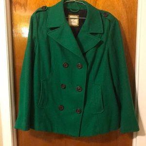 Old Navy Green Pea Coat